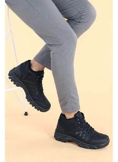 Ayakland Ayakland Bs 571 ıçi Termal Kürk Termo Erkek Çocuk Bot Ayakkabı Siyah